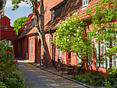 Monastery Heiliger Geist (holy spirit) with medieval buidlings used then as home for elderly and poor and sick citizens. The Hanseatic City Stralsund. The old town is listed as UNESCO World Heritage. Europe, Germany, West-Pomerania, June.