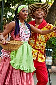 Typical dances, Plaza de Bolivar, Cartagena de Indias, Bolivar, Colombia, South America