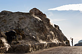 Sulfuric steam on Vulcano Island, Lipari Islands, Aeolian Islands, Tyrrhenian Sea, Mediterranean Sea, Italy, Europe