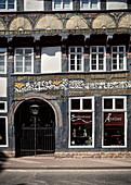 detail of a frame work house, Hoexter, North Rhine-Westphalia, Germany