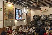 El Pimpi Bar, Restaurant, wine barrles, Malaga, Andalucia, Spain