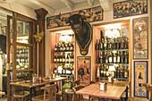 La Catedral, Bar, Tapas, Restaurant, bulls at the wall, Andalucia, Spain