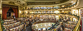 Interior of the Ateneo bookstore interior, former theater in Buenos Aires, Panorama, Argentina