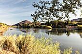 Kunene River, the border to Angola, Kunene, Namibia, Africa