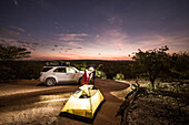 Camping under the stars in Damaraland, Kunene, Namibia