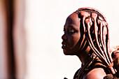 Young Himba woman, Kunene, Namibia