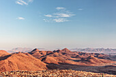 View from the Krone Canyon towards the south, Damaraland, Kunene, Namibia