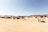 The huts of De Riet, Damaraland, Kunene, Namibia