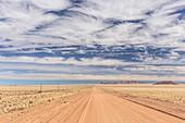The road C13 from Helmeringhausen to Aus, Karas, Namibia.