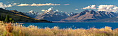Mt Cook, Aoraki and Lake Pukaki, Mackenzie, Canterbury, South Island, New Zealand, Oceania