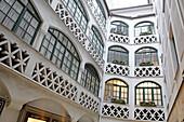 Renaissance courtyard Eilleshof, Residenzstrasse, Munich, Upper Bavaria, Bavaria, Germany