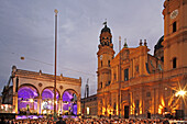 Classic music on odeonsplatz, classic music festival, Feldherrnhalle, Munich, Upper Bavaria, Bavaria, Germany