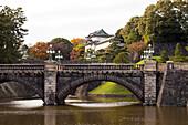 Nijubashi Bridge and Fushimi-Yagura Tower at Imperial Palace, Chiyoda-ku, Tokyo, Japan