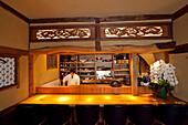Interior of Restaurant Shiro in Jingumae, Shibuya, Tokyo, Japan