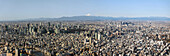 Wide angle skyline of downtown Tokyo with Mt. Fuji at early morning, Sumida-ku, Tokyo, Japan