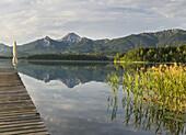 Faaker See, footbridge, Mittagskogel, Carinthia, Austria