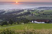 Upper Austrian Alpine foothills near Steyr, farm, Upper Austria, Austria