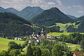 View of Maria Neustift, Upper Austria, Austria
