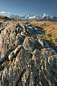 Ober Gabelhorn, Zinalrothorn, Weisshorn, Zermatt, Valais, Switzerland