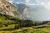 Eiger north wall, Mättenberg, Gross Scheidegg, Grindelwald, Bernese Oberland, Switzerland