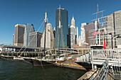 Sailing ship from South Street Seaport Museum, Pier 16, Manhattan, New York City, New York, USA
