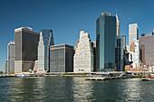 Manhattan skyline from the East River, New York City, New York, USA