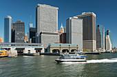 Lower Manhattan Skyline from the East River, New York City, New York, USA