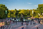 Cherry Hill Fountain, Central Park, Manhattan, New York City, New York, USA