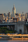 Empire State Building from the Brooklyn Bridge, Manhattan, New York City, New York, USA