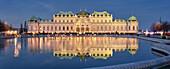 Belvedere Palace in Advent, 3rd district of Landstrasse, Vienna, Austria