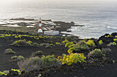 Lighthouse Faro de Fuencaliente, Salinas de Fuencaliente, La Palma Island, Canary Islands, Spain