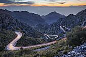 View from Coll of Rice, Tramuntana, Mallorca, Balearics, Spain