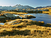 namenloser See am Grimselpass, Pizzo Gallina, Berner Oberland, Schweiz