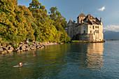 Schloss Chillon, Veytaux, Montreux, Genfer See, Waadt, Schweiz