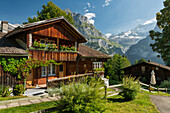 traditionelles Haus, Grindelwald, Mättenberg, Berner Oberland, Schweiz