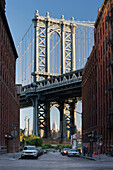 Manhatten Bridge, Empire State Building, Washington Street, Brooklyn, Long Island, New York City, USA