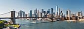 Brooklyn Bridge, East River, Manhatten, New York City, USA