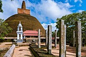 Abhayagiri Stupa, Sacred City of Anuradhapura, North Central Province, Sri Lanka, Asia.
