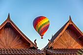 Asia. South-East Asia. Laos. Province of Vang Vieng. Vang Vieng. Hot Air Balloon.