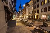Evening in Aarau, canton Aargau, Switzerland.