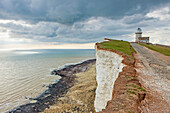 Afternoon at Belle Tout lighthouse at Beachy Head near Eastbourne, East Sussex, England. South Downs National Park.