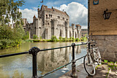 Spring afternoon at Gravensteen (Castle of the Counts) in Ghent, Belgium.