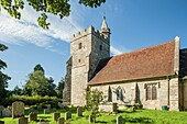 Late summer afternoon at St Michael in Little Horsted, East Sussex, England.