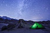 dispersed camping Alabama Hills, Eastern Sierra Nevada, Lone Pine, California, USA, North America