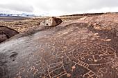 Petroglyph Rock, Bishop , Eastern Sierra Nevada, Lone Pine, California, USA, North America