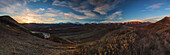 'Sunrise in Denali National Park seen from Polychrome Pass overlook; Alaska, United States of America'