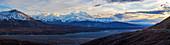 Sunset on Denali seen from the Eielson Visitor Center, Denali National Park, Interior Alaska, USA