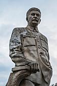 'Statue of Stalin in front of the Joseph Stalin Museum; Gori, Shida Kartli, Georgia'