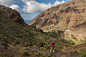 walking track in the hills above Valle Gran Rey, La Gomera, Canary Islands, Spain