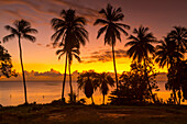 West Coast sunset, St James, Barbados, West Indies, Caribbean, Central America